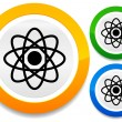 ������, ������: Symbolic molecule atom symbol icon for chemistry biology rese