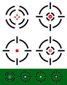 Crosshair, reticle, target mark set. 4 different cross-hairs. — Stock Vector