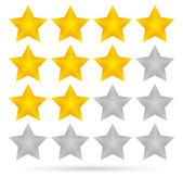 Star rating system (4 stars) — Stock Vector