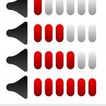 Sound volume level indicators — Stock Vector #67110613