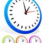 Colorful clocks set — Stock Vector #67113057