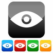 Simple eye icons — Stock Vector