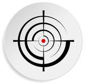 Crosshair, target symbol — Stock Vector