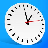 Classic Clock  symbol — Stock Vector