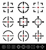 Crosshairs, reticle, target set — Stock Vector