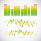 EQ, equalizer graphics — Stock Vector