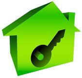 Ljusa hus med nyckelhål — Stockvektor