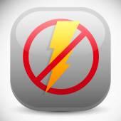 No electricity, blackout icon — Stock Vector