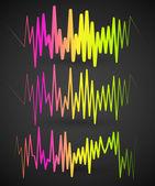 Waveforms, EQ, equalizer graphics — Stock Vector