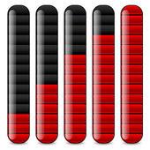 Vertical bars, loading bars, indicators — Stock Vector