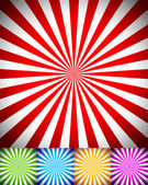 Rays or starburst background set. — Stock Vector