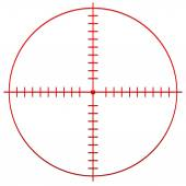 Red Crosshair, reticle — Stock Vector