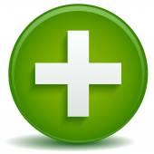 Yeşil sağlık çapraz — Stok Vektör