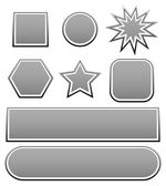 Variety of shapes in grey — Stock Vector