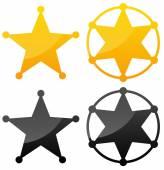 Sheriff's badges set — Stock Vector