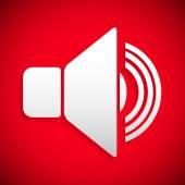 Red speaker icon — Stock Vector