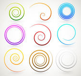 Colorful spirals, twirls — Stock Vector