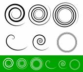 Simple spiral set — Stock Vector