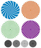 Swirling lines, circles — Stock Vector
