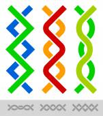 Braided vertical lines — Stock Vector