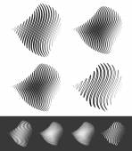 Distorted abstract wavy lines — Stock Vector
