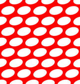 Ovals on red, seamless pattern. — Stock Vector
