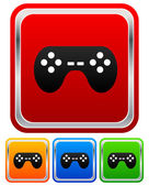 Game controllers, remotes icons — Vettoriale Stock