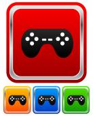 Game controllers, remotes icons — Stock vektor