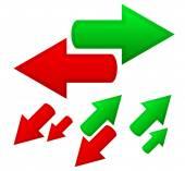 Conceptual arrows icons set — Stock Vector
