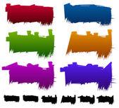 Geometric   Banner backgrounds — Stock Vector