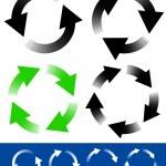 Circular arrows icons — Stock Vector #68171107