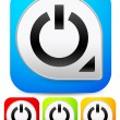 Power buttons icons set — Stock Vector #68174867