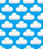 Cute clouds pattern — Stockvektor