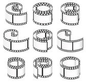 Film strips for photography — Stock Vector