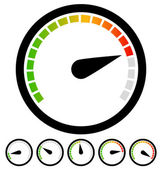 Dial, gauge templates. — Stock Vector