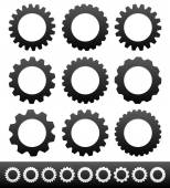 Cogwheels, setting icons — Stock Vector