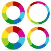 Stylish circular arrow graphics — Vetor de Stock