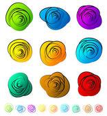 Abstract circular elements set — Stock Vector