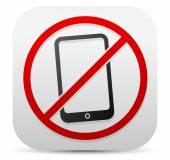 Forbidden to use phone icon. — Stock Vector