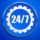 24 - 7 badge for repair — Stock Vector