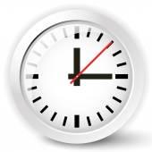 Shiny clock icon — Stock Vector