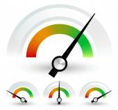 Speedometers or general indicators set — Stock Vector