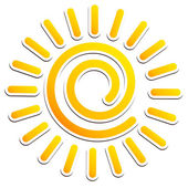 Cool, swirling sun icon — Stock Vector