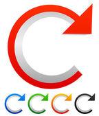 Circular arrow.  skip, advance icons — Stock Vector