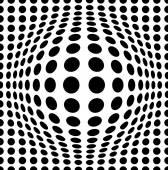 Bulging dots background — Stock Vector