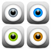Color eye icons — Stock Vector