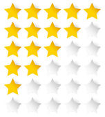 Stylish star rating template — Stock Vector