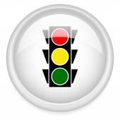 Classic traffic light icon — Stock Vector