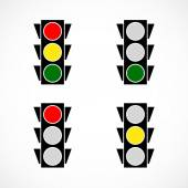 Classic traffic lamp icons — Stock Vector
