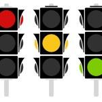 Traffic lamp icons set — Stock Vector #68183793